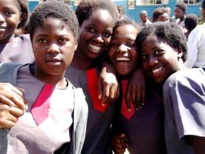 portraits, Zambia, school girls