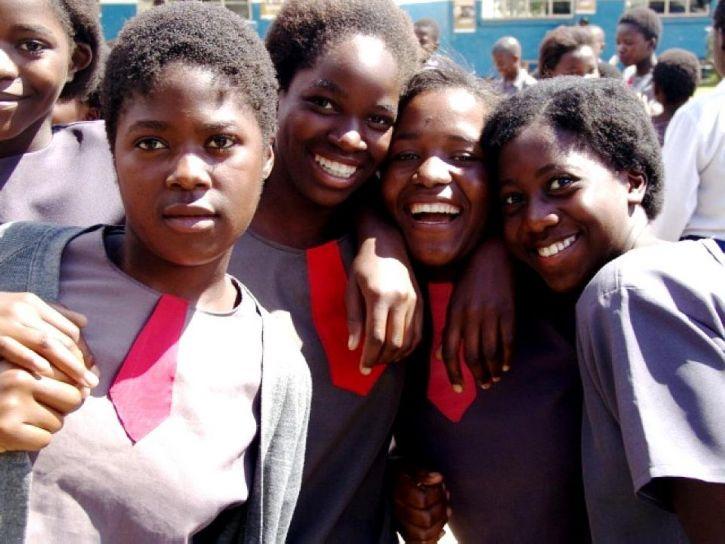 retratos, Zambia, las niñas de la escuela
