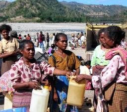 селски, жени, изток, Тимор, вода, ръце
