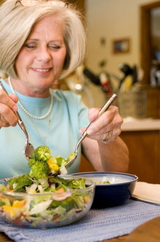 serving, freshly, vegetable, salad, packed, full, healthy, ingredients