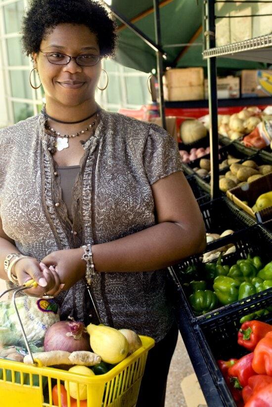 shopping, lemon, head, cauliflower, purple, white, onion, ginger, root, bell peppers