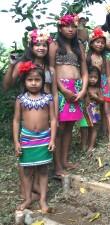 cộng đồng, chào đón khách, khách truy cập, đầy màu sắc, trang phục, dâm bụt, bông hoa, Panama