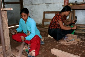 Nepalese, women, carpenters