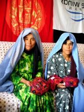 women, members, Silkwork, production, program, northern Afghanistan