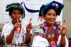 thumbprint, vote, rural, Guatemala, hauts plateaux
