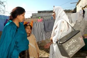 entrenado, salud, trabajo, visitas, madre, hija, rural, Punjab, hogar