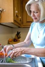 gommage, brosse, lavage, frais, carotte, évier, ruisseau