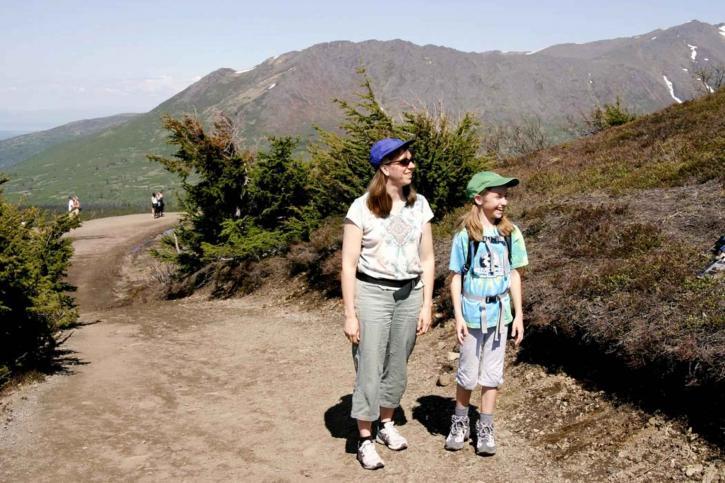 woman, girl, hike, nature