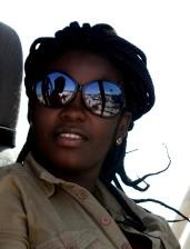 mujer, Haití, de cerca, la cara