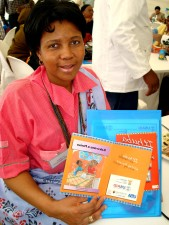 woman, shows, Africas, educational, projects, childrens, writing, skills