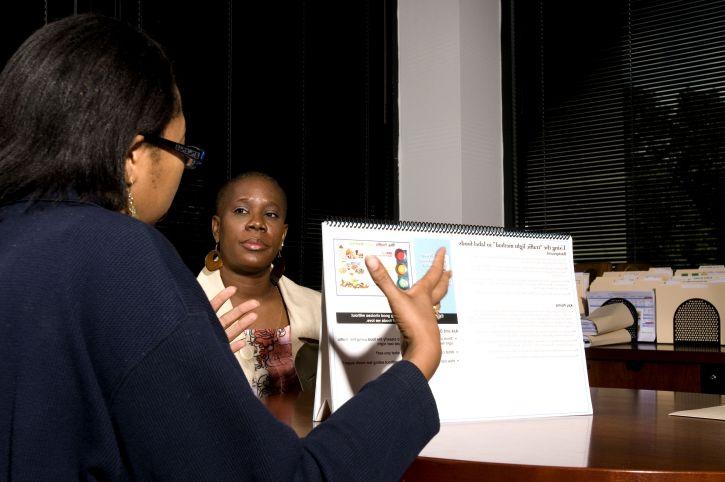žena, priča, ured