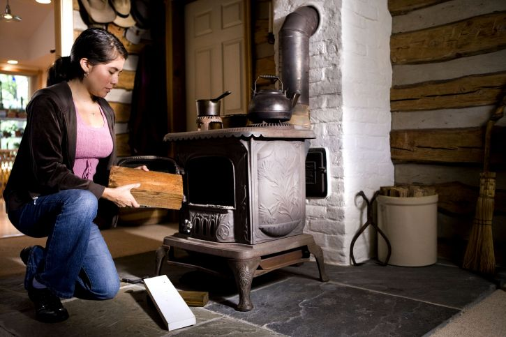 woman, inappropriate, types, wood, stove, fuel