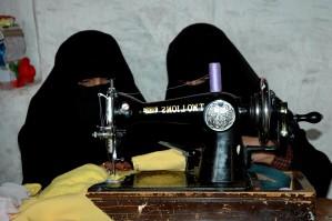 women, sewing machine, useful skill