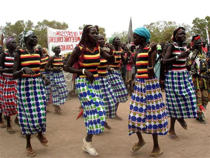 women, Rumbek, Sudan, marched, danced, international, womens, day