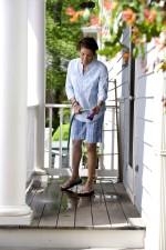 women, washing, floor, terrace, wearing, protective, equipment