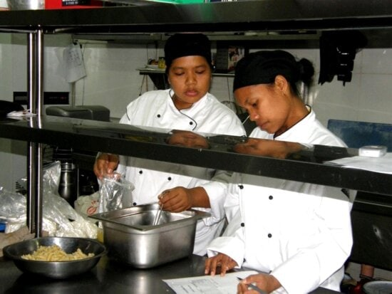 young female, work, colleague, kitchen