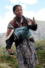 young woman, living, ecotourism, remote, village, demonstrating
