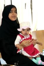 jeune, Yémen, mère, peu, fille
