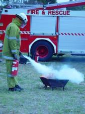 fireman, extinguishing, brazier