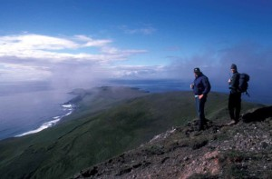 vrch, kopec turistov,