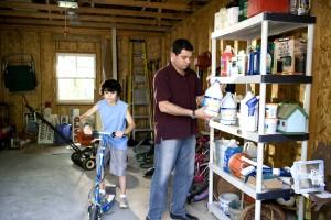 garaža, uredan, čist, uvelike, smanjuje, postojanje, sigurnosti, opasnosti, lagati