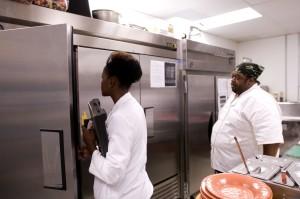 Kuchyně, personál, ruka, inspekce, zpětné vazby, inspektor