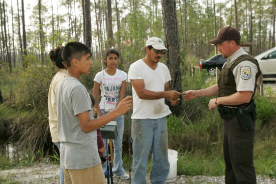 law, enforcement, officer, check, compliance, fishing, licence