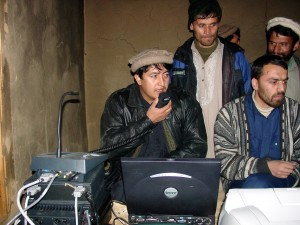 Afghanistan, men, computer, radio, training