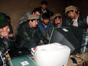 Afghanistan, men, computer, training