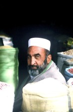 Afghanistan, shopkeeper, beans, flour, commodities, market
