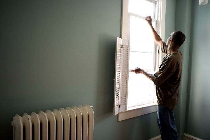 Free Picture African American Man Stands Open Window