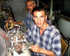 apprentice, program, Tajikistan, teaches, men, marketable, skills, find, jobs