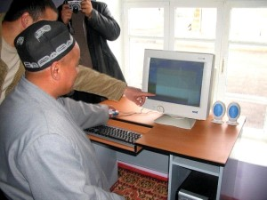 imam, Tajikistan, encourages, computers, computer, classes, mosque