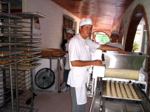 práce, cookie, továrna, Villavicencio, dělníci, ambice, rozbalte, větší, trhy