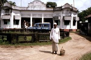 Bangladeshi, man, standing, front, district, health, office, city, Sylhet