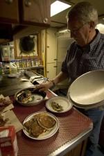 σεφ, ετοιμάζει, Δείπνο, κουζίνα
