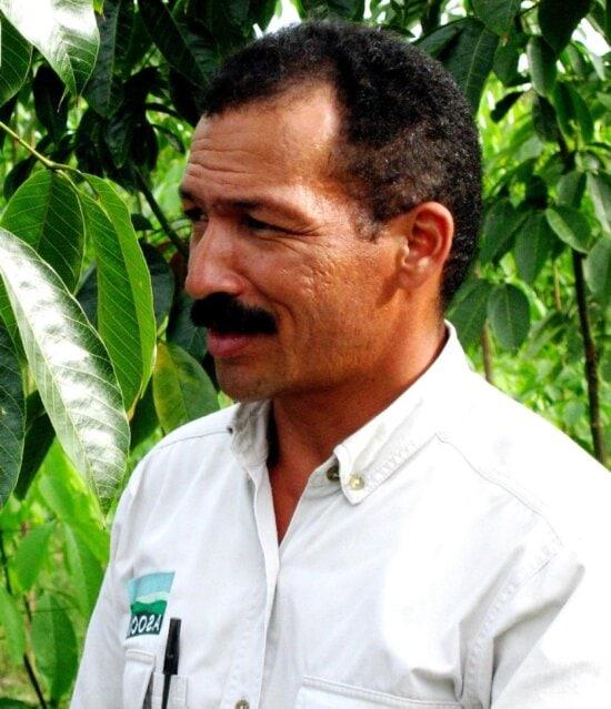 colombia, rubber, tree, farmer, man, photo