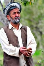 vieux, agriculteur, Afghanistan, portrait, affiche, le sol