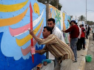 Création, emplois, Irakiens, aide, étincelle, l'économie, l'aide, les hommes