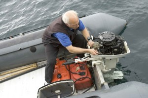 ingeniør, person, arbejde, båd, motor