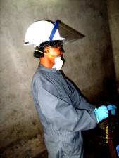 lucha, la malaria, insecticidas, aerosoles, operadores