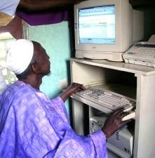 homme, ordinateur, Mali, ancienne, de la culture, moderne, de la technologie
