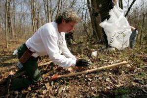 Man, skog, arbeider