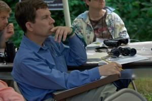 man, intently, listening, class