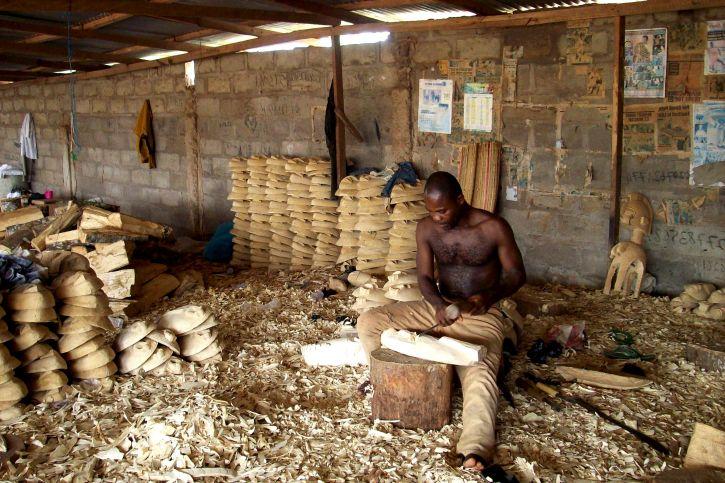 man, making, art, wood, souvenirs, workshop