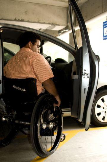 mann, manøvrerte, kropp, rullestol, sete