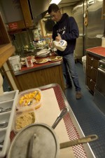man, preparing, meal, kitchen