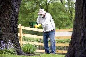 l'homme, le travail, jardin