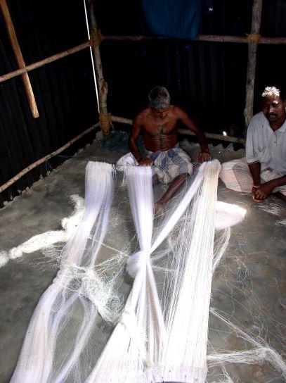 mannen maken, visserij, netten