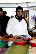 un, entrepreneurs, Dushanbes, vert, bazar, avantages